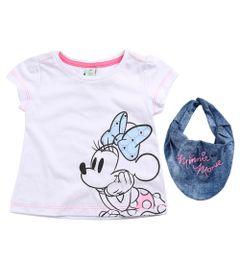 Blusa-Infantil---Manga-Curta---Minnie-Mouse---Branco---100--Algodao---Disney---3