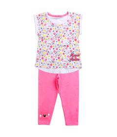 Conjunto-Infantil---Minnie-Mouse---Branco-e-Rosa---100--Algodao---Disney---1