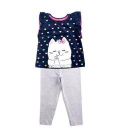 Conjunto-Infantil---Bata-e-Legging---Gatinho---Mescla-e-Marinho---100--Algodao---Minimi---3