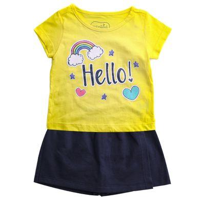 Conjunto-Infantil---Estampado---Hello---Amarelo---100--Algodao---Minimi---1
