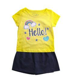 Conjunto-Infantil---Estampado---Hello---Amarelo---100--Algodao---Minimi---3
