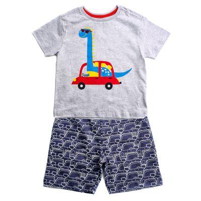 Conjunto-Infantil---Estampado---Dinossaur---Mescla-Branco---Algodao-e-Poliester---Minimi---1
