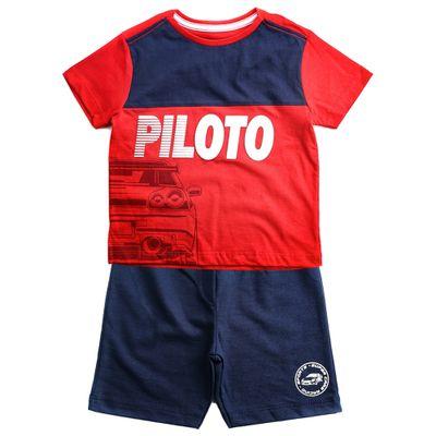 Conjunto-Infantil---Estampado---Piloto---Vermelho-e-Marinho---100--Algodao---Minimi---1