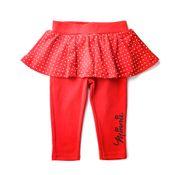 Calca-Legging-infantil---Minnie-Mouse---Glitter---Vermelho---100--Algodao---Disney---P