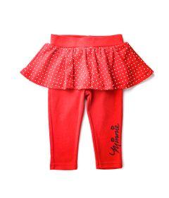 Calca-Legging-infantil---Minnie-Mouse---Glitter---Vermelho---100--Algodao---Disney---M