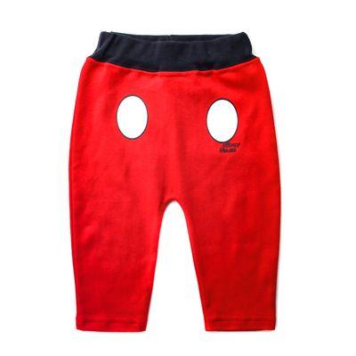 Calca-Infantil---Estampada---Mickey-Mouse---Vermelho---100--Algodao---Disney---P
