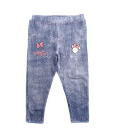 Calca-Legging-Infantil---Minnie-Mouse---Branco---Algodao-e-Elastano---Disney---1