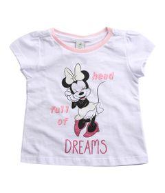 Pijama-Infantil---Manga-Curta---Minnie-Mouse---Branco---Algodao-e-Poliester---Disney---1