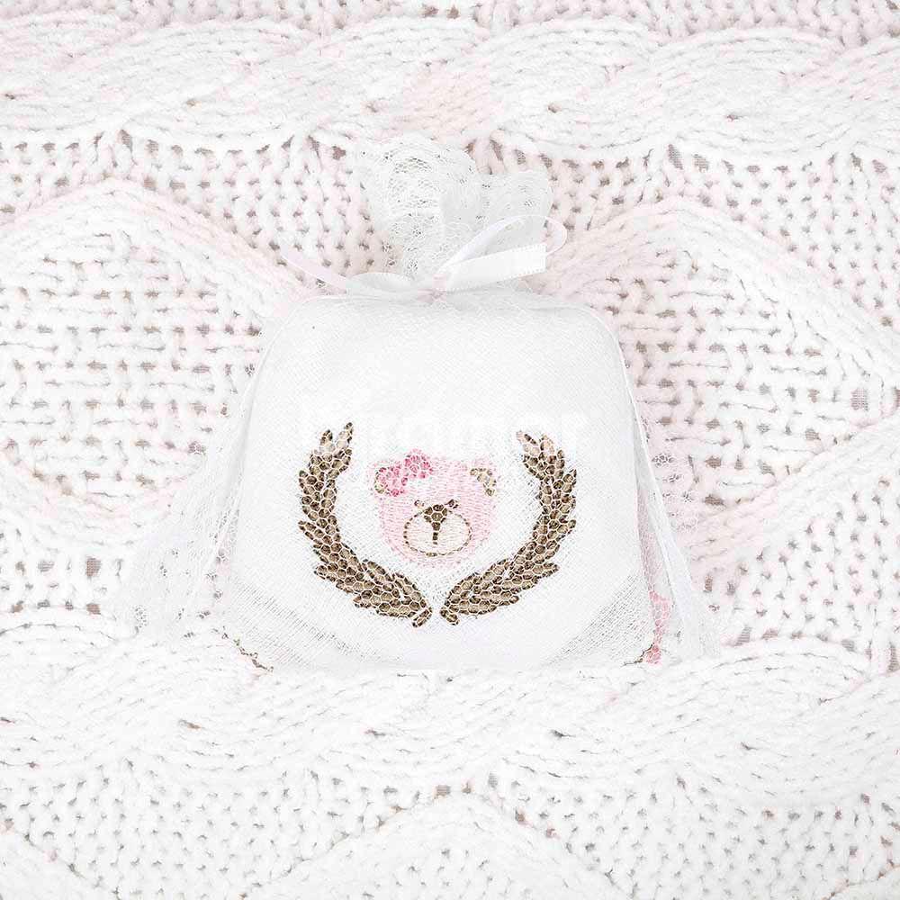 Fralda de Boca - 3 Peças - Chegou uma Princesa Rosa - Biramar
