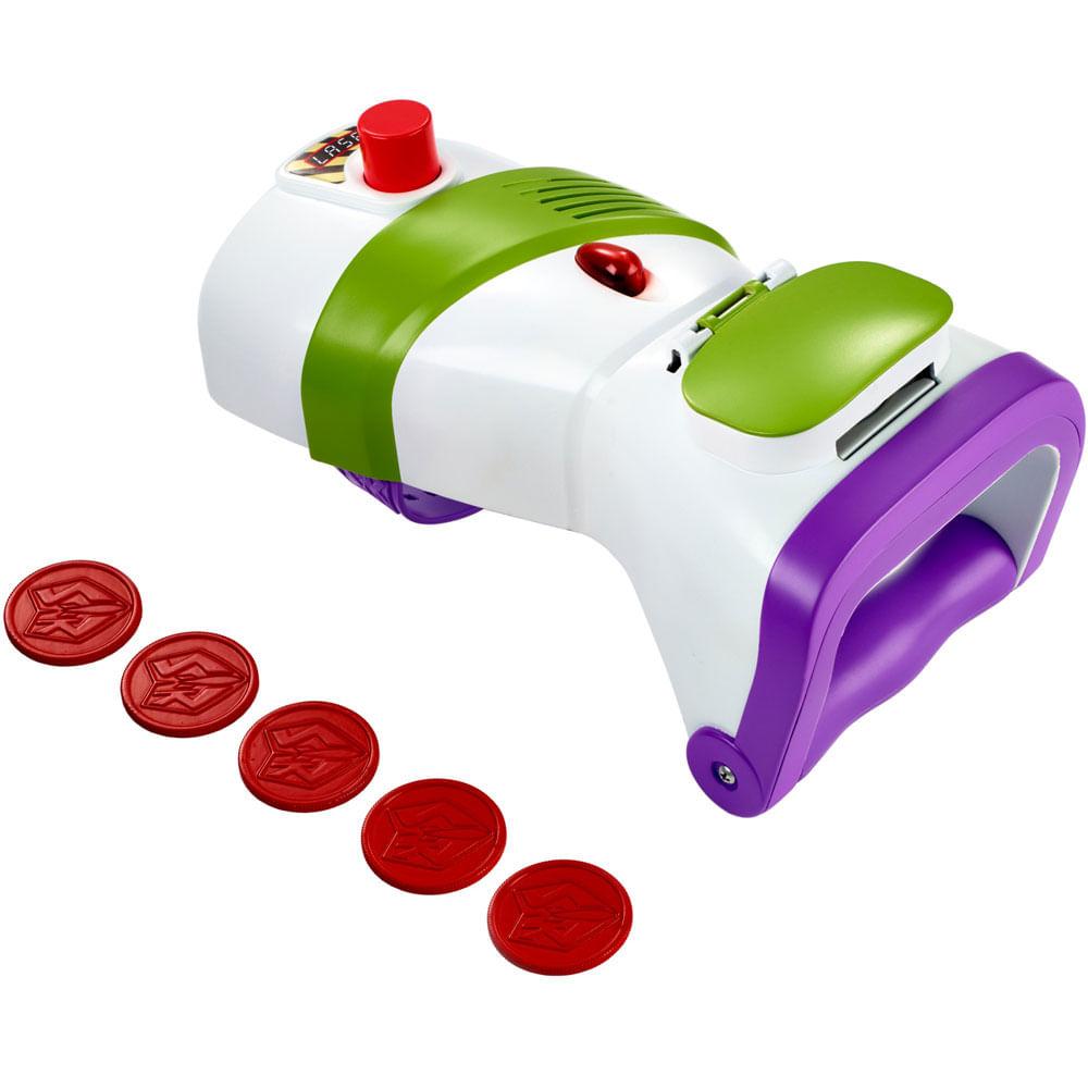 Lançador de Discos com Luzes e Sons - Disney - Pixar - Toy Story 4 - Buzz Lightyear - Mattel