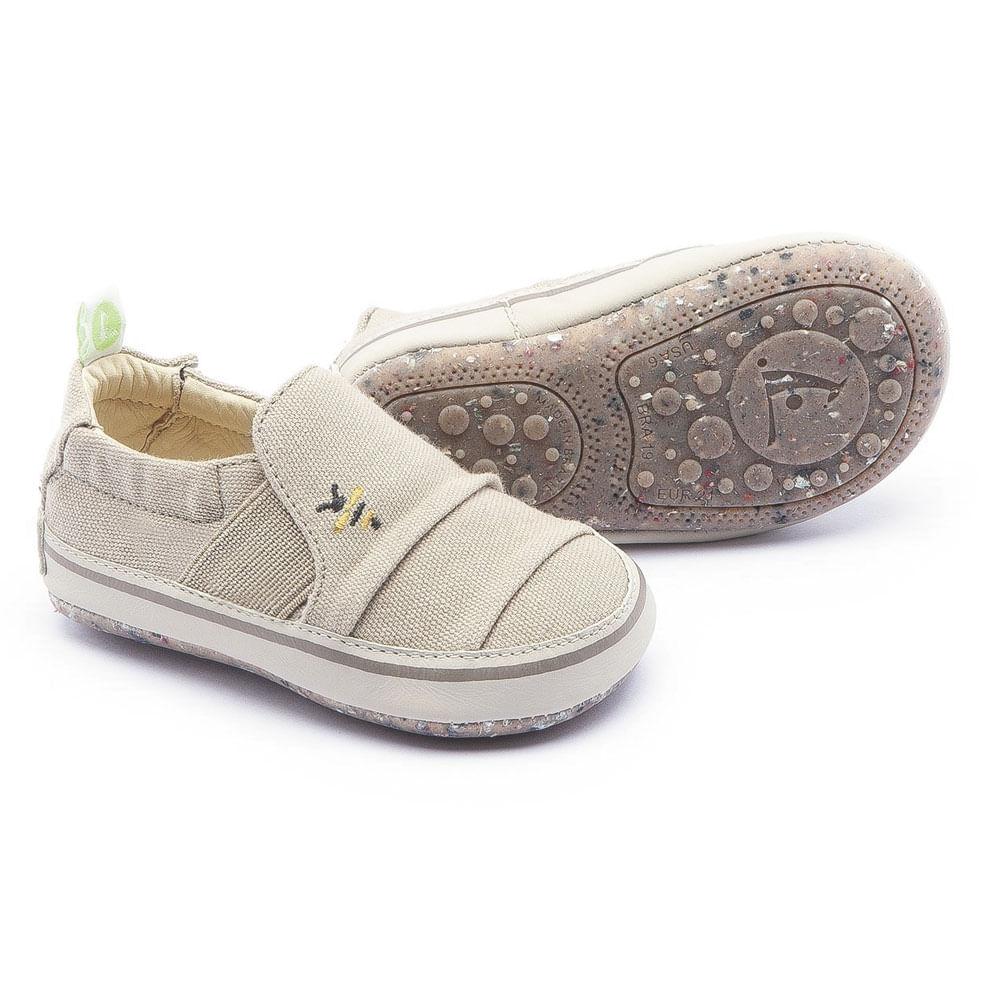 Bota  para Bebês - Hivey - Lona de Algodão - Marrom - Tip Toey Joey