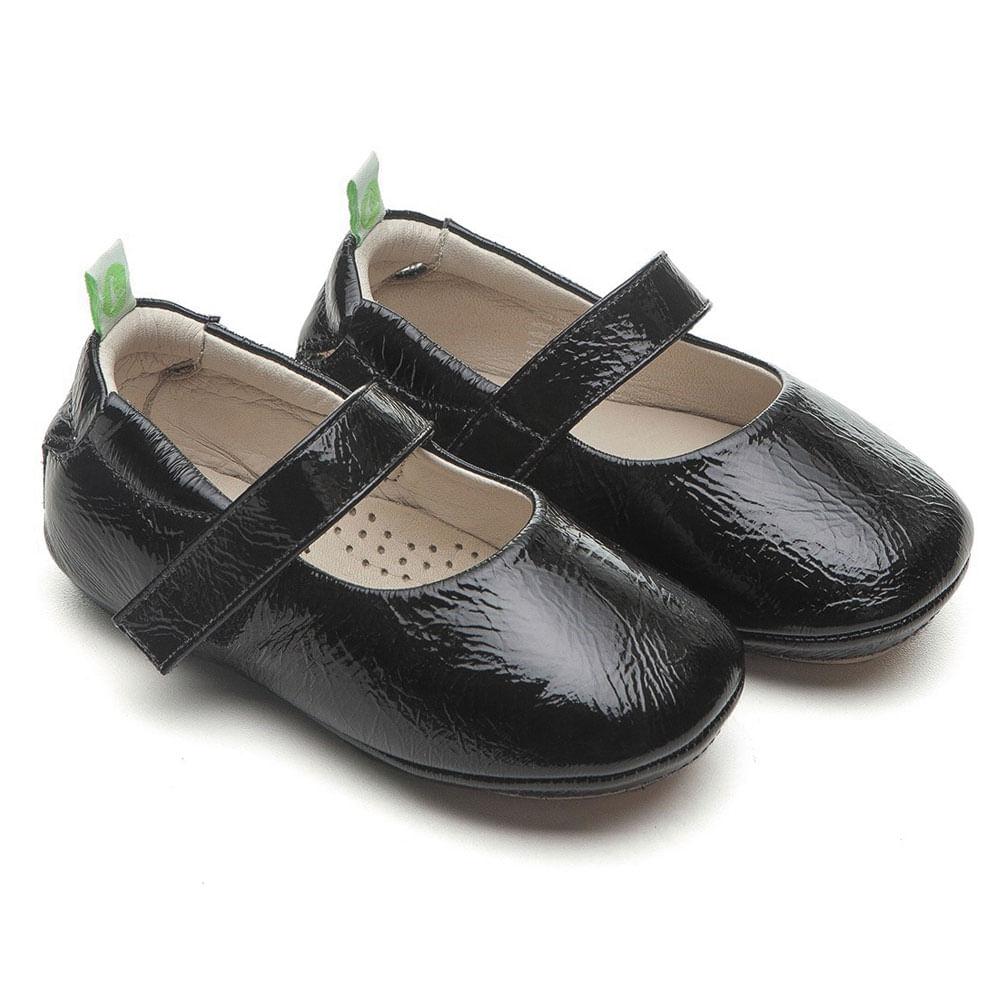 Sapato para Bebês - Dolly - Couro - Preto - Tip Toey Joey