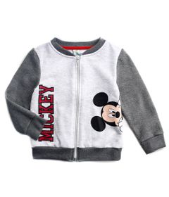 Jaqueta-de-Moleton---Mickey-Mouse---Algodao-e-Poliester---Cinza---Disney---1