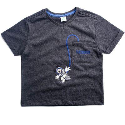 Camiseta-Botone-Com-Bolso---Mickey-Mouse---Algodao-e-Poliester---Preto---Disney---1