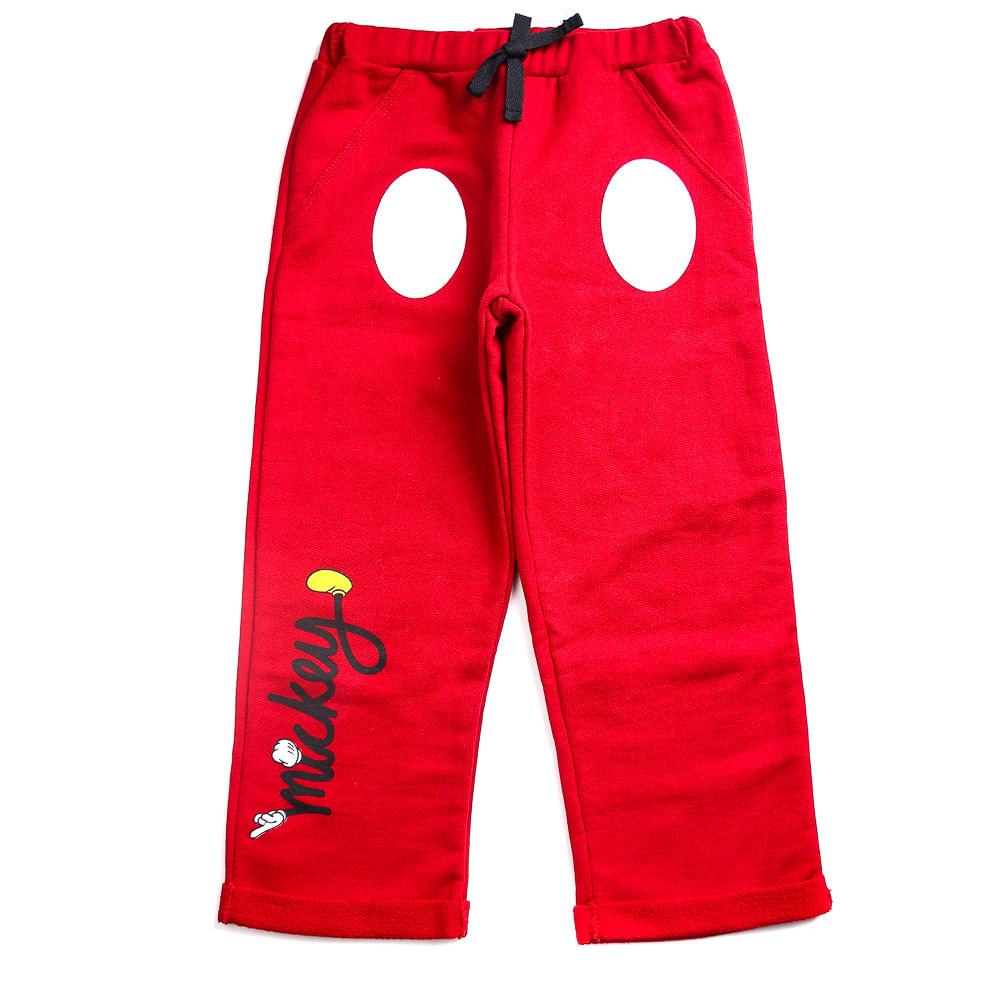 Calça Infantil - 100% Algodão - Mickey Mouse - Vermelho - Disney