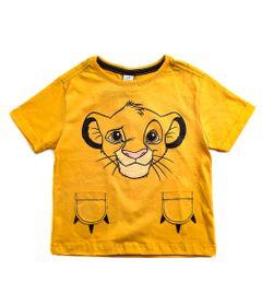 Camiseta-Infantil---Manga-Curta---100--Algodao---Simba---Laranja---Disney---1