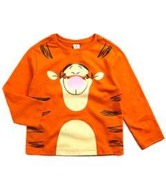 Camiseta-Infantil---Manga-Longa---100--Algodao---Tigrao---Laranja---Disney---1