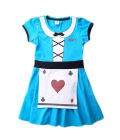 Vestido-Infantil---Algodao-e-Elastano---Alice---Azul---Disney---1