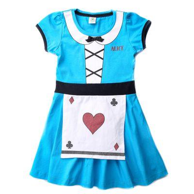 Vestido-Infantil---Algodao-e-Elastano---Alice---Azul---Disney---3