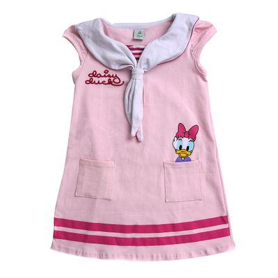 Vestido-Infantil---Algodao-e-Elastano---Margarida---Rosa---Disney---1