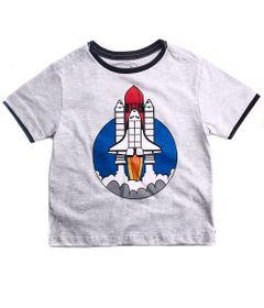 Camiseta-Infantil---Manga-Curta---Algodao-e-Poliester---Foguete---Branco---Minimi---2