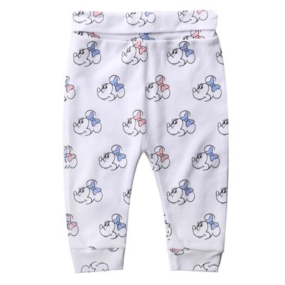 Calca-Infantil---100--Algodao---Estampada---Minnie-Mouse---Branco---Disney---P