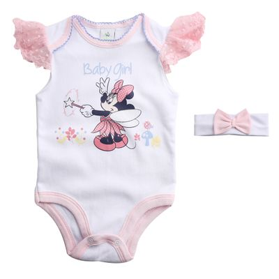 Body-Infantil---Manga-Curta---100--Algodao---Minnie-Fada---Branco---Disney---P