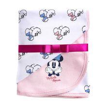 Manta-Estampada---100--Algodao---Minnie-Mouse---Branco---Disney