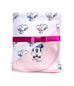 Manta-Estampada---100--Algodao---Minnie-Mouse---Branco---Disney