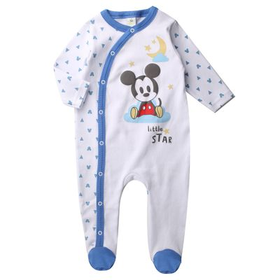 Macacao-Infantil---Manga-Longa---100--Algodao---Mickey-Mouse---Branco---Disney---P