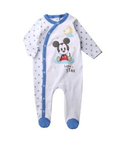 Macacao-Infantil---Manga-Longa---100--Algodao---Mickey-Mouse---Branco---Disney---G