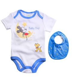 Body-Infantil---Manga-Curta---100--Algodao---Mickey-Lua---Branco---Disney---P