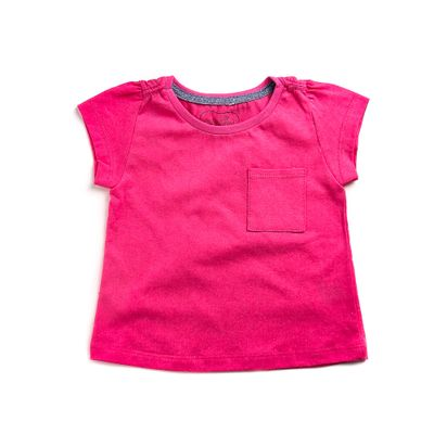 Blusa-Infantil---Manga-Curta---100--Algodao---Bolso-e-Glitter---Rosa-e-Cinza---Minimi---1