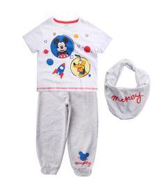 Conjunto-Camisa-Manga-Curta-e-Calca---100--Algodao---Branco---Disney---1