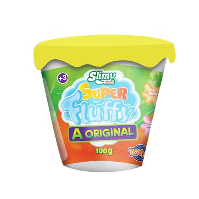 Geleca---Slimy-Fluffy---100gr---Amarelo---Toyng