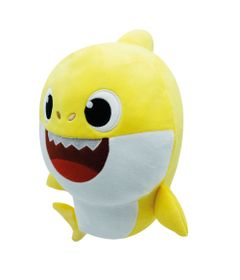 Pelucia---Baby-Shark---30cm---Amarelo---Musical---Toyng