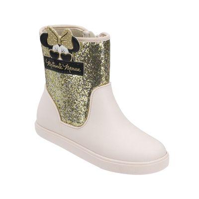 Bota-Infantil---Shine-Glitter---Dourada---Minnie-Mouse---Grendene
