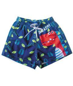 Shorts-de-Tactel---Infantil---Zoo-Summer---Dino---Panda-Pool