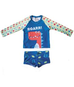 Conjunto-de-Praia---Camisa-e-Sunga---Zoo-Summer---Dino---Panda-Pool---Conjunto