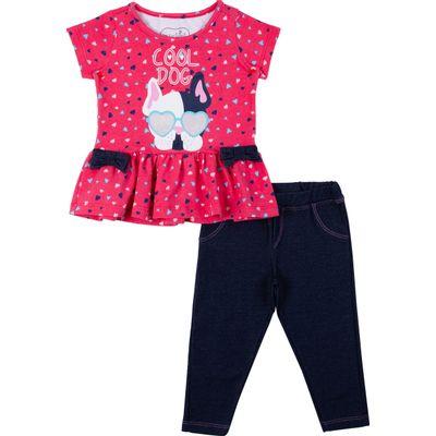 Conjunto-Infantil---Estampado---Bulldog---Rosa---Algodao-e-Elastano---Minimi---1