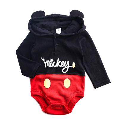 Body-Manga-Longa-e-Capuz---Mickey-Mouse---Preto---100--Algodao---Disney---P