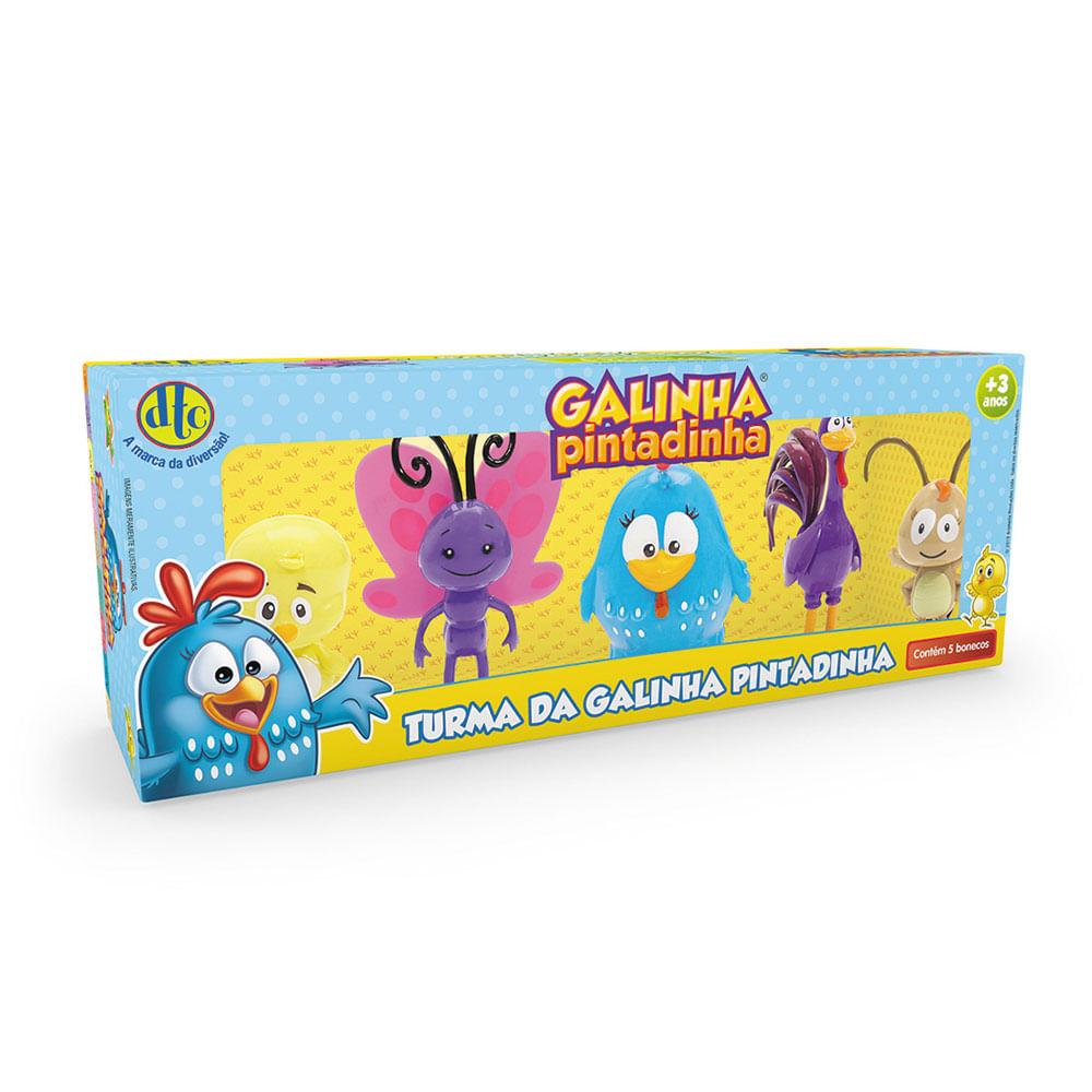 Mini Figuras 10 Cm - Galinha Pintadinha - 5 Personagens - DTC