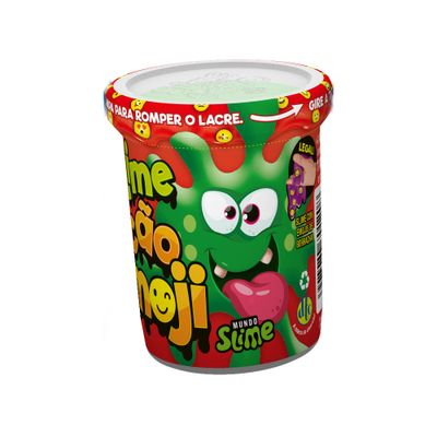 Pote-de-Slime-Ecao-Borrachinhas-Emoji-Verde-DTC-5057_frente