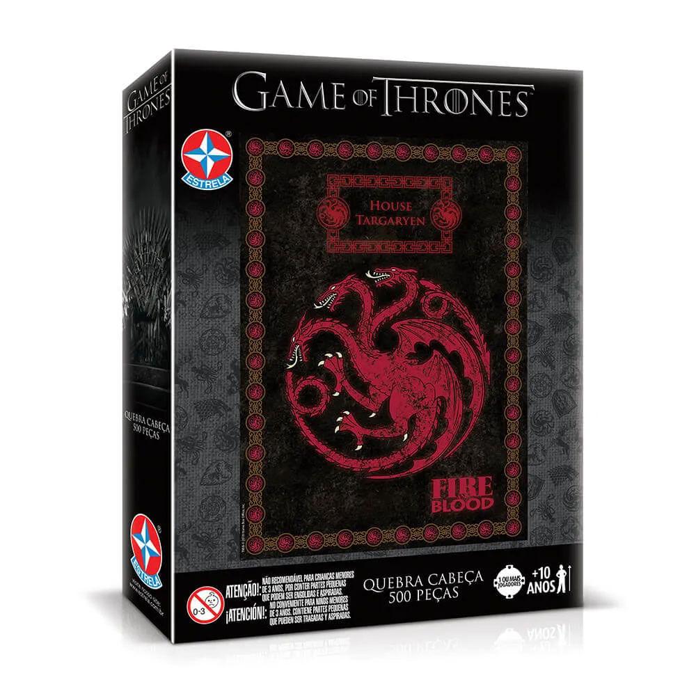 Quebra- Cabeça - 500 Peças - Game Of Thrones - Targaryen - Estrela