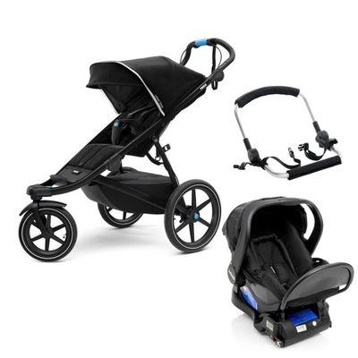 Travel-System-com-Suporte-e-Base---Urban-Glide-2---Black---Thule