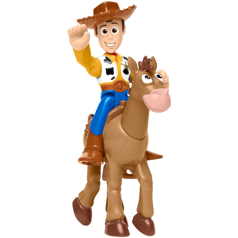 Mini Figuras Básicas - Imaginext - Disney - Pixar - Toy Story 4 - Wood e Bala no Alvo - Fisher-Price