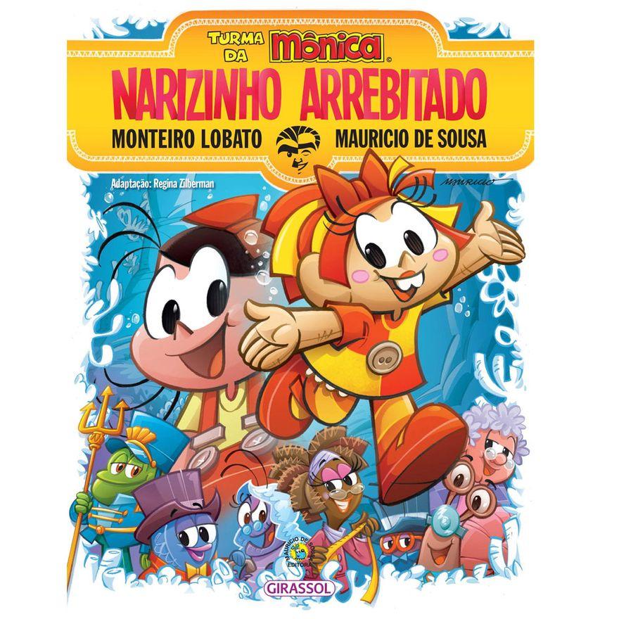 Livro-Infantil-Turma-da-Monica-e-Narizinho-Arrebitado-Catavento-9788539404445_frente