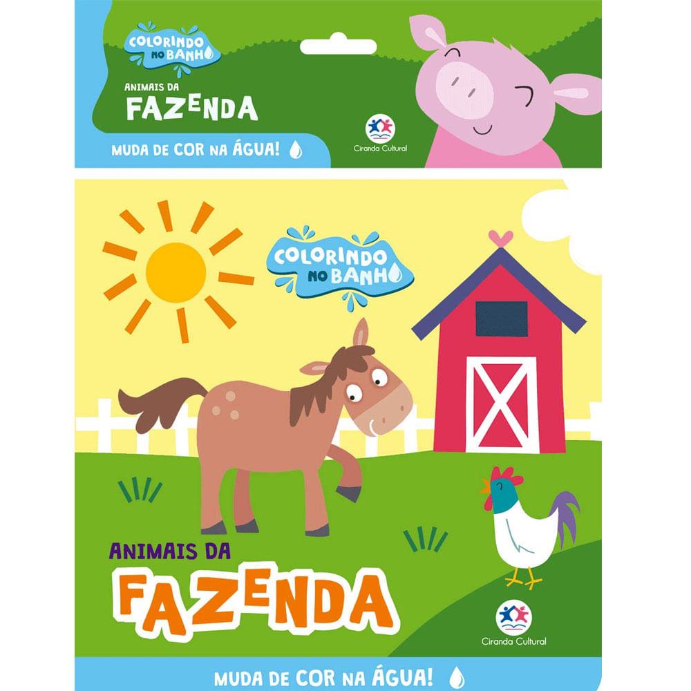 Livro De Banho - Animais Da Fazenda - Ciranda Cultural