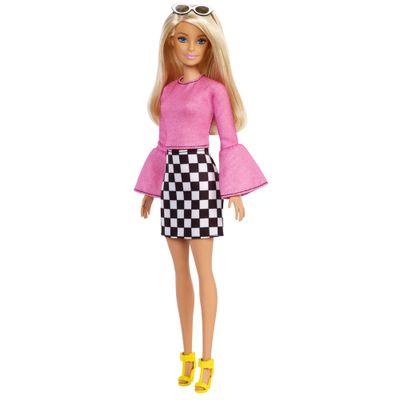 boneca-barbie-fashionista-loira-blusa-rosa-e-saia-xadrez-mattel-FBR37-FXL44_Frente