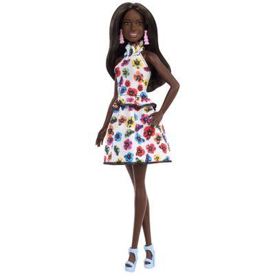 boneca-barbie-fashionista-negra-vestido-branco-florido-mattel-FBR37-FXL46_Frente